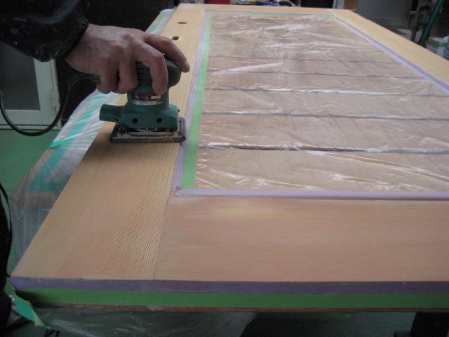 最終研磨作業電動工具使用