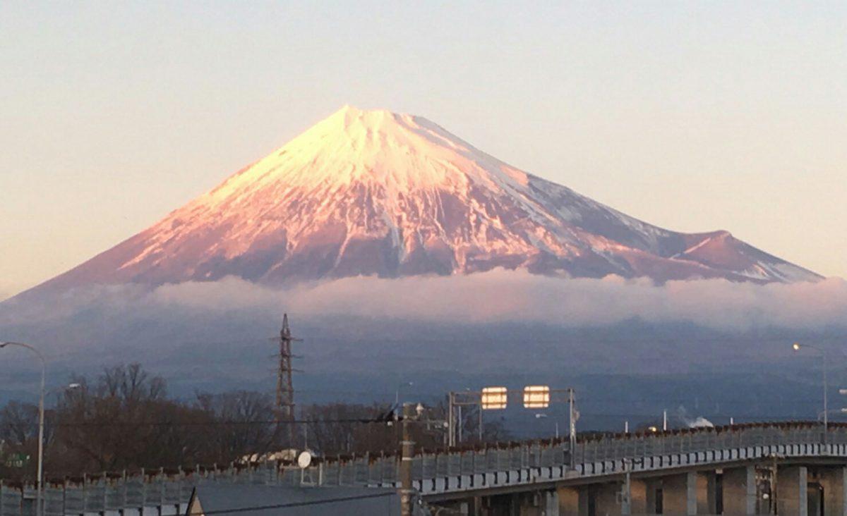 富士山夕方