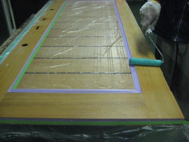 剥離材 塗布1回目  框部①